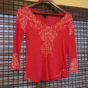 Lucky Brand red boho top